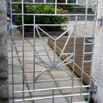 Custom garden gate installed by Dain Art Iron in Ayrshire