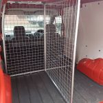 Keep your dogs secure and perhaps stop them from fighting in the back of your car or van with these custom built metal dog cages. Designed, built and fitted in Irvine, Ayrshire.