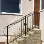 Metal handrail with circles fitted in East Ayrshire by Dain Art Iron