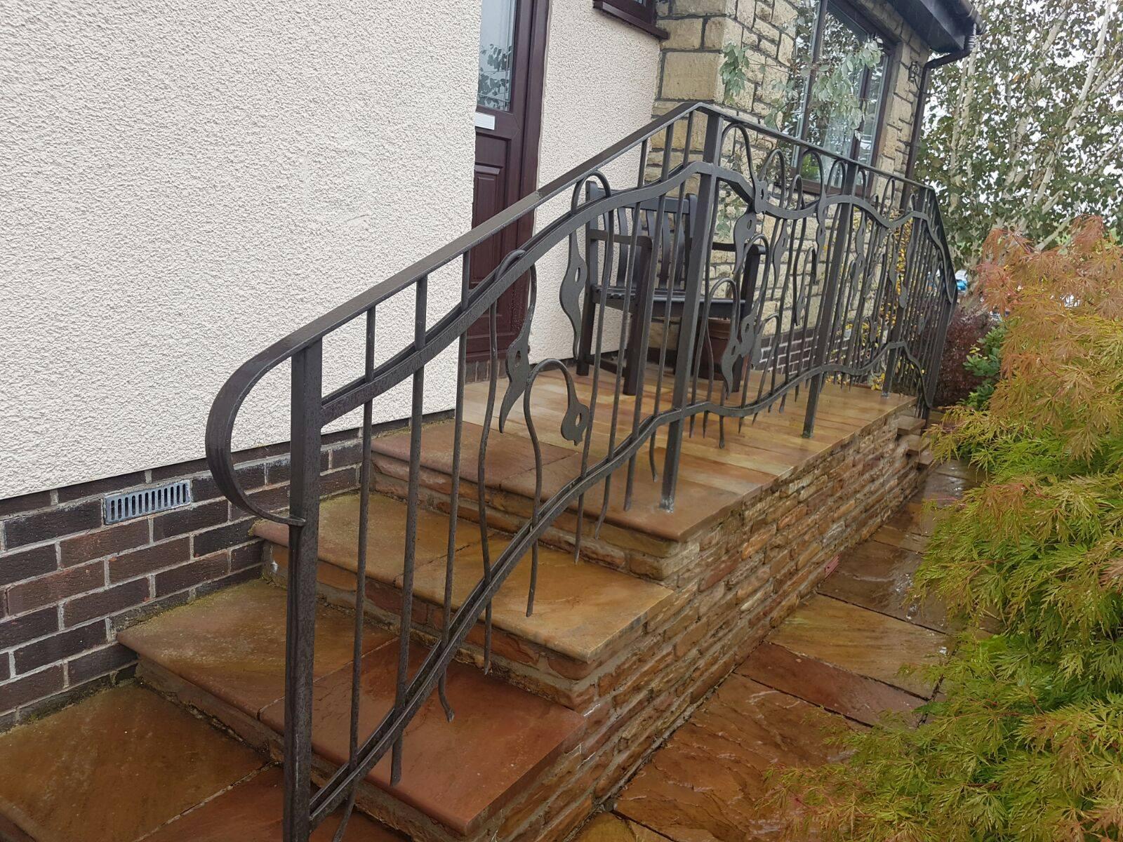 Custom decorative handrail by Dain Art Iron in Ayrshire, Scotland