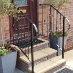 Decorative handrails by Dain Art Iron in Irvine, Scotland.