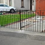 Modern driveway gates fabricated and installed in Saltcoats by Dain Art Iron