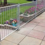 Simple straight bar metal railing, galvanised for rust free finish. Fitted in Ayrshire.
