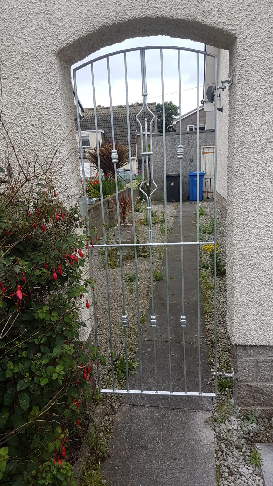 Galvanised side gate by Dain Art Iron, Scotland