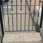 Simple metal arden gate fitted in Scotland by Dain Art Iron