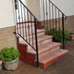 Decorative handrail installed in Lochwinnoch by Dain Art Iron