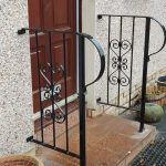 Traditional style handrail installed in Irvine by Dain Art Iron