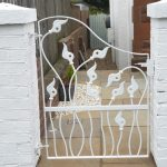 Galvanized custom made metal garden gate