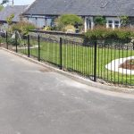 Metal fence panels galvanized and painted by Dain Art Iron, metal fabricators in Ayrshire, Scotland