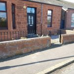 Tradition metal wall railing and gate by Dain Art Iron, Ayrshire, Scotland.