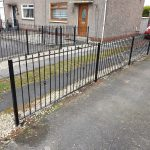 Metal fencing fabricated and installed by Dain Art Iron, Ayrshire.