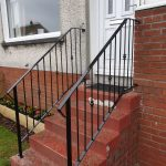 Decorative metal handrails in Ayrshire, Scotland by Dain Art Iron
