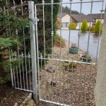 Wrought iron gate and fence panel by Dain Art Iron in Ayrshire, Scotland.