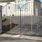 Decorative custom made wrought iron driveway gates