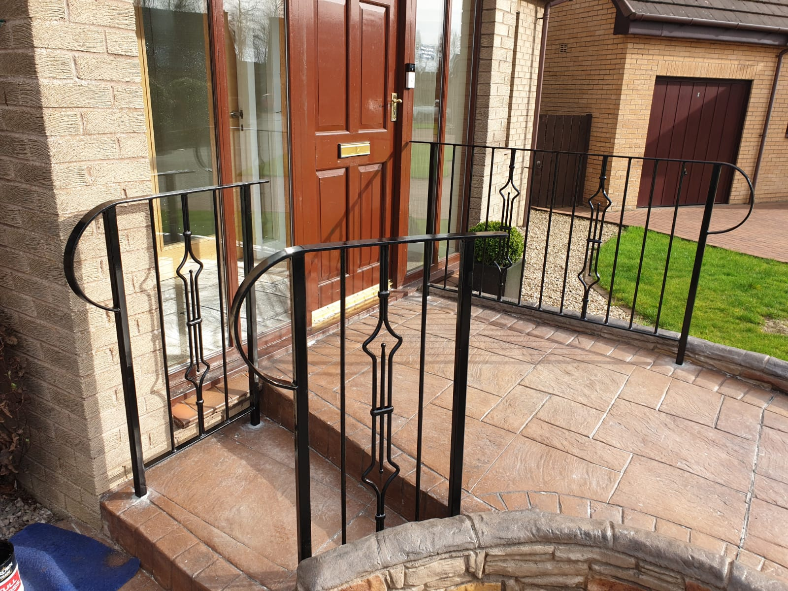 Custom metal handrails by Dain Art Iron, Ayrshire.