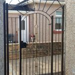 Decorative security panel and gate by Dain Art Iron