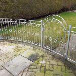 galvanized metal fence by Dain Art Iron, Ayrshire Scotland.