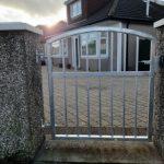 Galvanized garden gate installed in Ayrshire by Dain Art Iron