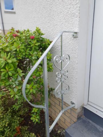 galvanized decorative handrail installed in Ayrshire Scotland by Dain Art Iron
