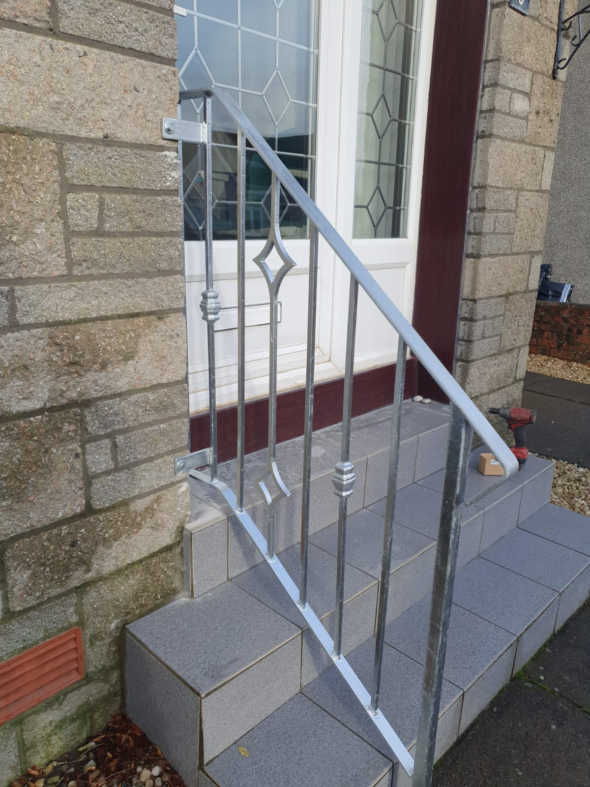 Decorative metal handrail made to measure in Ayrshire