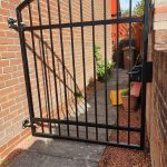 metal garden gate installed in Ayrshire, Scotland by Dain Art Iron
