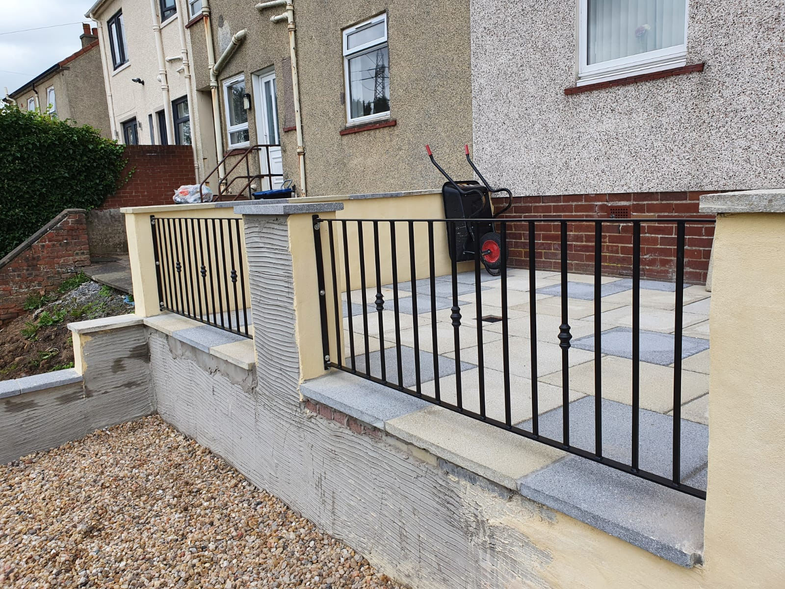 custom metal railings by Dain Art Iron, Ayrshire Scotland.