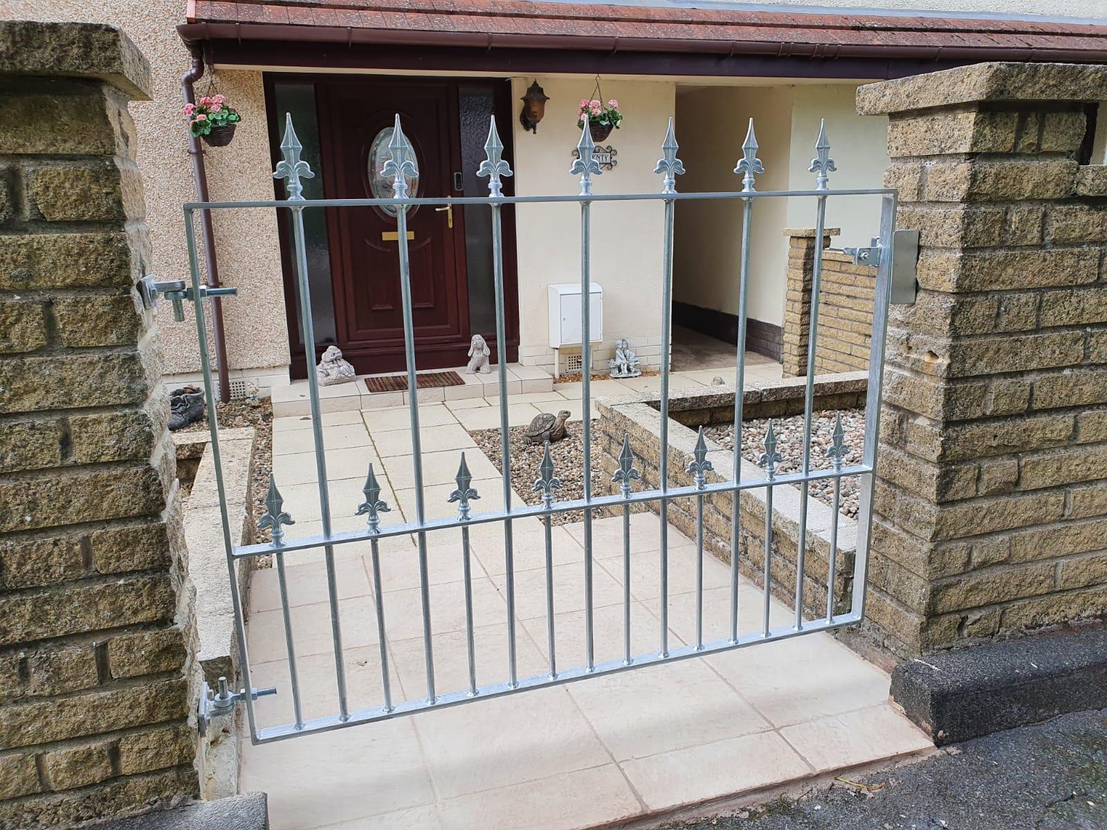 custom galvanized garden by Dain Art Iron in Ayrshire, Scotland