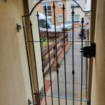 steel garden gate installed by Dain Art Iron in Ayrshire