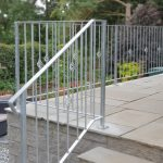 Decorative handrail galvanized to protect against rust installed i n Kilmarnock by Dain Art Iron