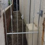 galvanzied garden gate in Ayrshire by Dain Art Iron