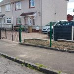 Nylofor green mesh metal fencing by Dain Art Iron, Ayrshire Scotland.