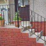 Handrail for front step installed in Beith by Dain Art Iron of Irvine