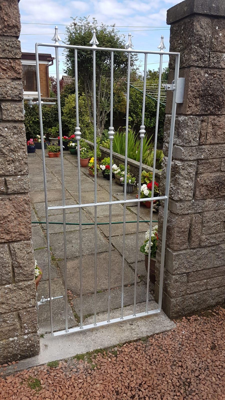 custom garden gate by Dain Art Iron in Ayrshire, Scotland