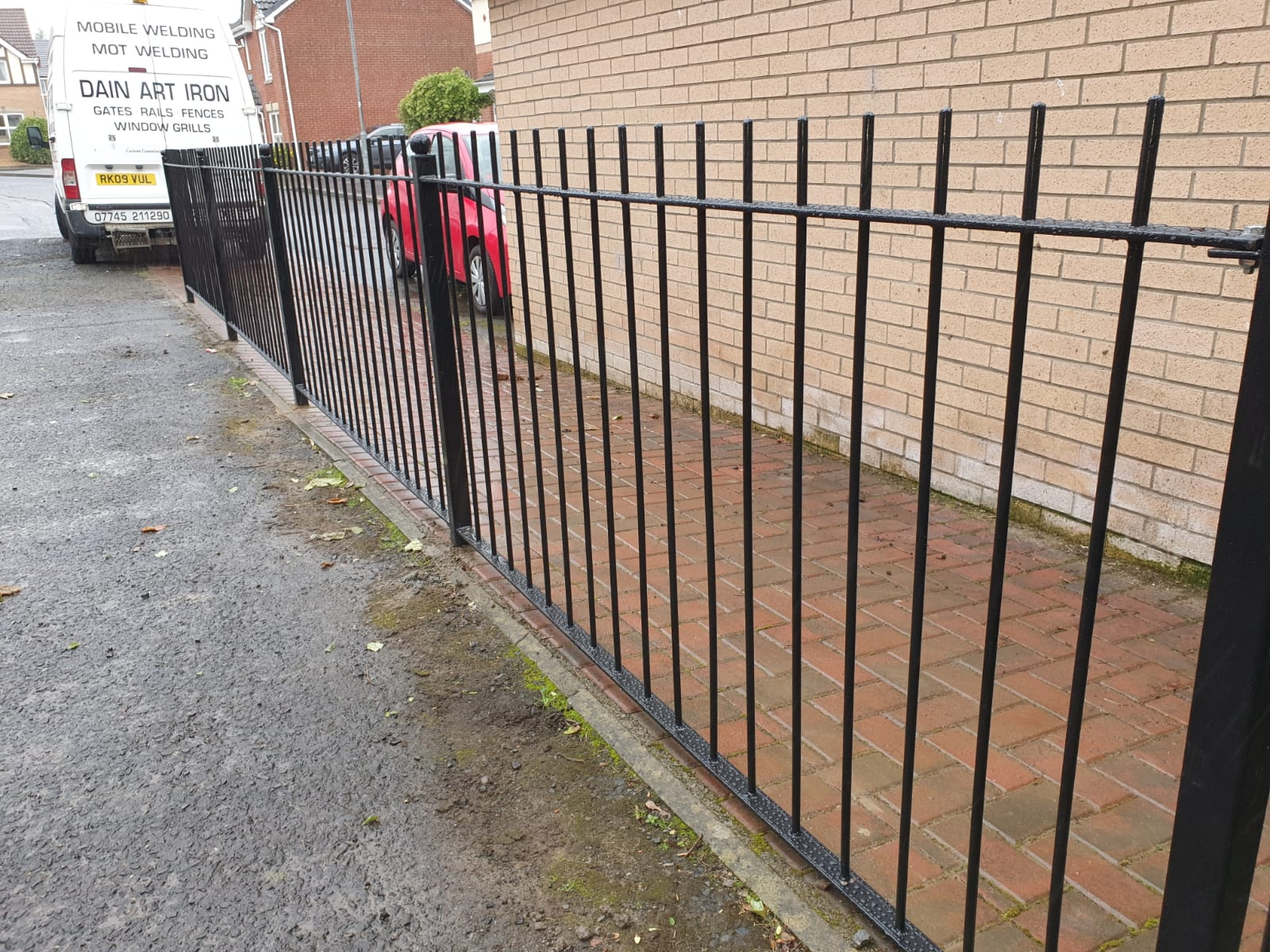 metal fencing fabricated and installed by Dain Art Iron, Ayrshire Scotland.
