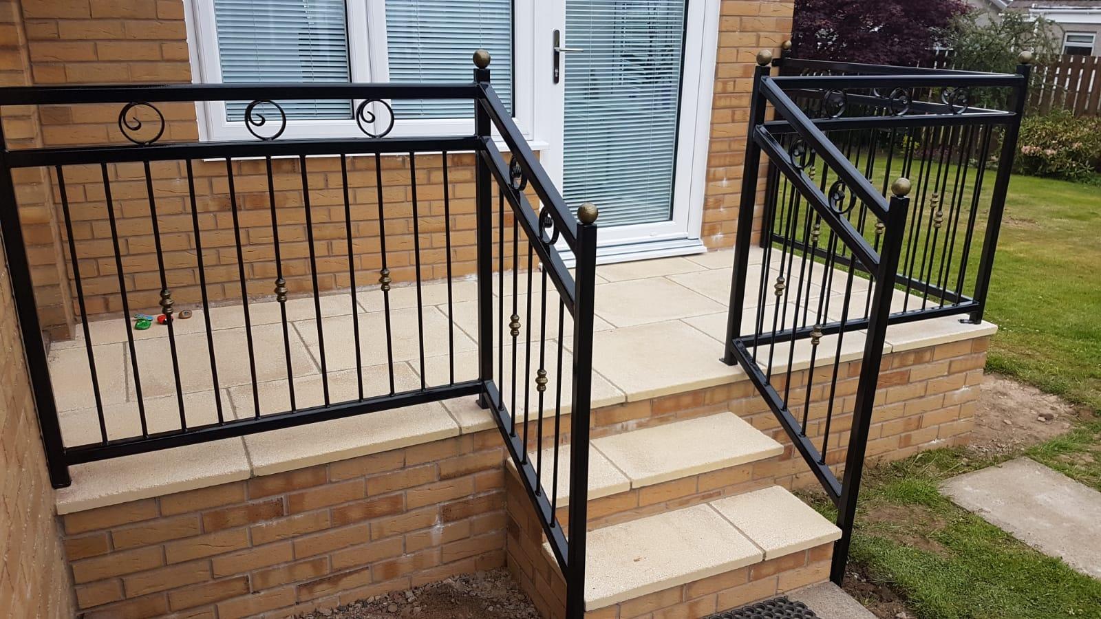 Heavy duty handrail installed in Ayrshire by Dain Art Iron