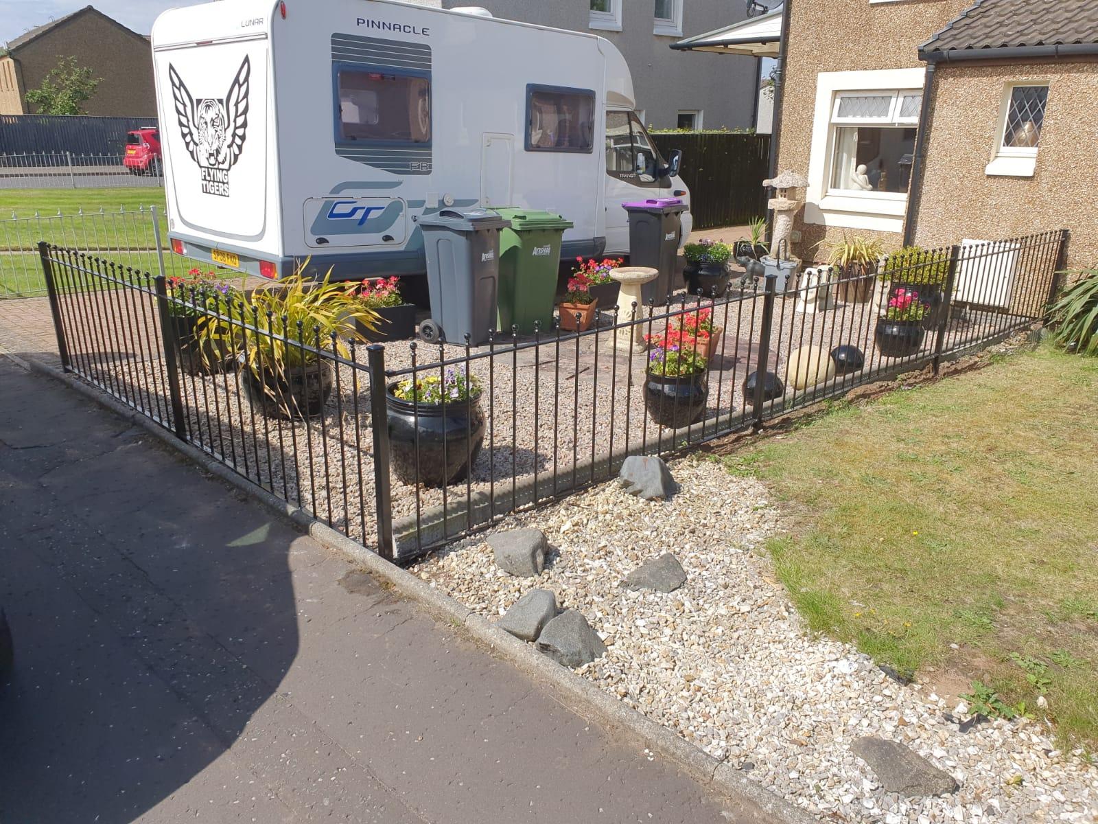 metal fencing by Dain Art Iron, Ayrshire Scotland.