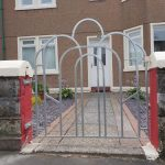 galvanized metal gate in Ayrshire, Scotland