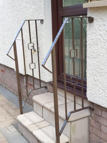 custom metal handrails by Dain Art Iron Ayrshire