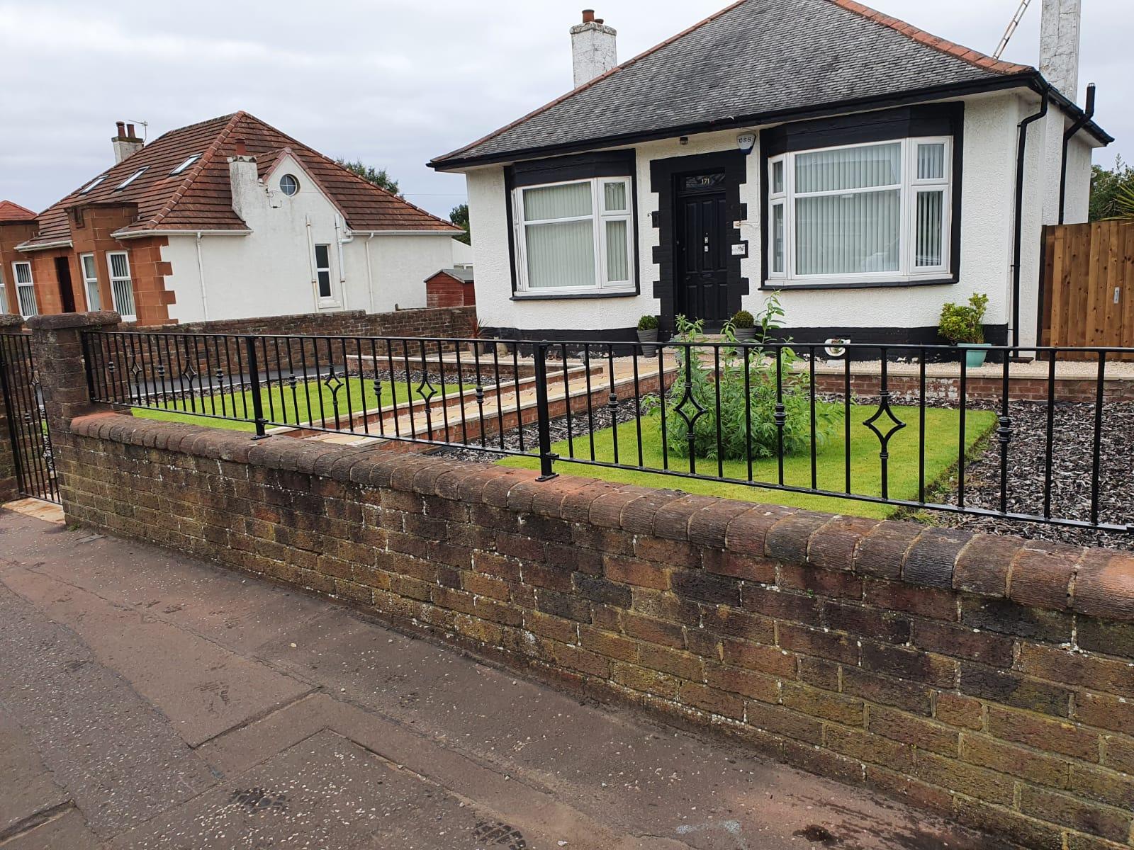 metal wall rails by Dain Art Iron, Ayrshire Scotland.