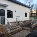 Disabled access ramp handrail by Dain Art Iron in Ayrshire