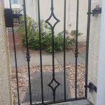 Diamond motif metal gate installed in Scotland by Dain Art Iron