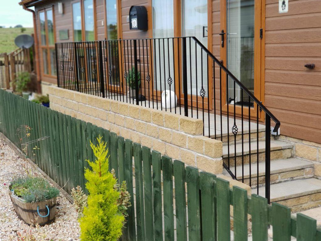 metal handrail, ayrshire, scotland