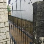 Beautiful tall side gate, ideal to maintain security whilst still looking classy. Custom designed with curved finish and fitted in Ayr, Ayrshire.