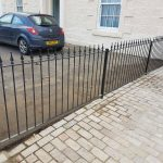 Simple metal fence installed in Troon by Dain Art Iron of Ayrshire, Scotland