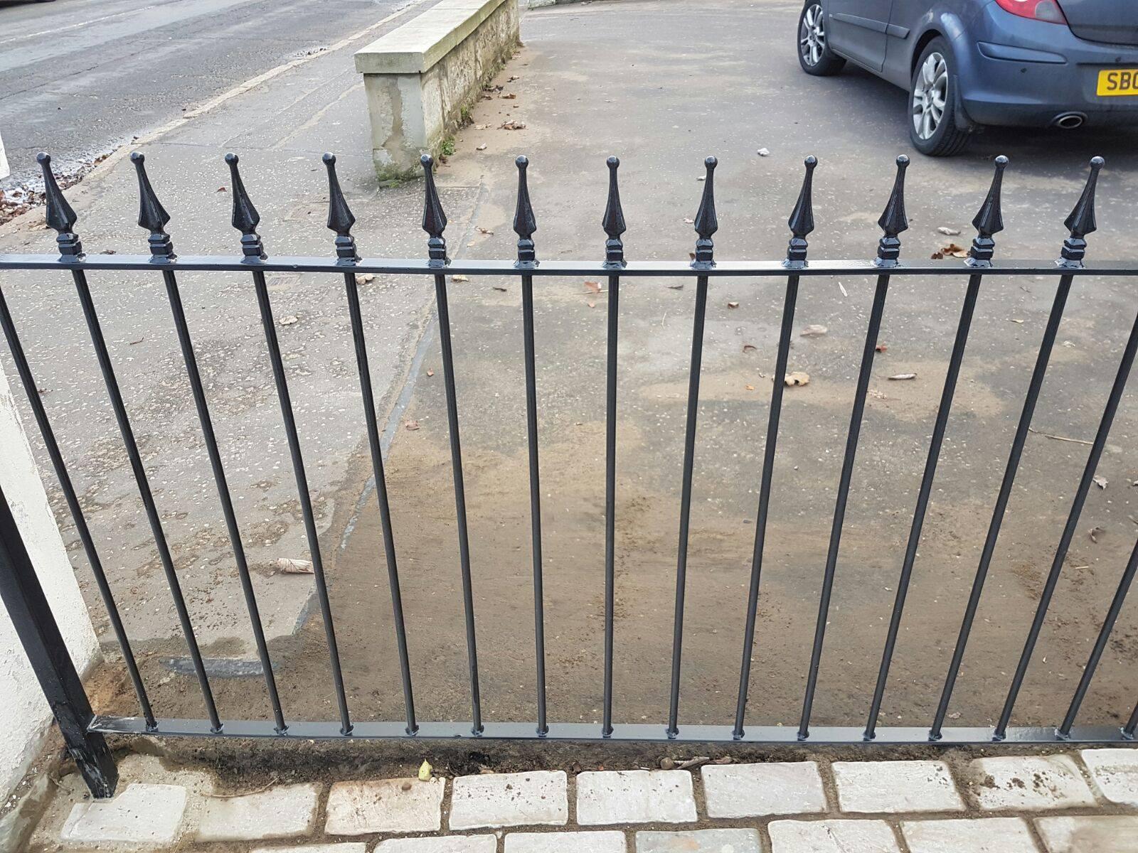 metal fence by Dain Art Iron of Irvine, Scotland.