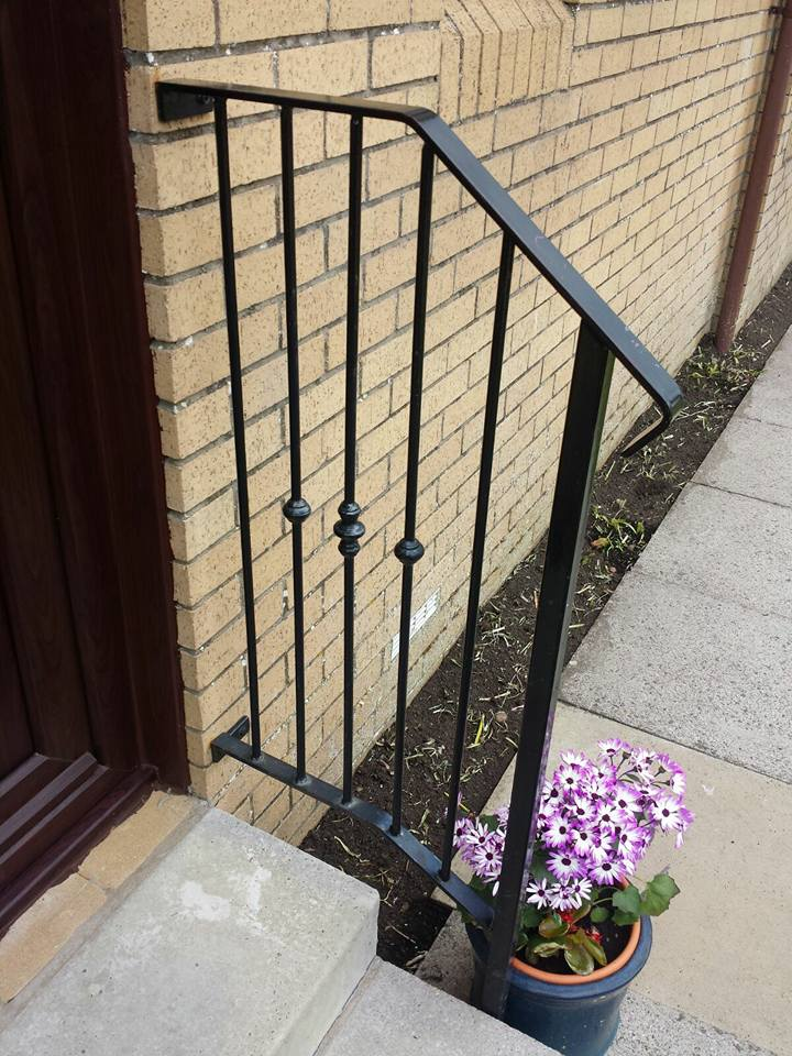 Metal handrail fitted by Dain Art Iron in Ardrossan