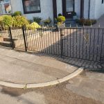 Metal driveway gates with thistles by Dain Art Iron of Ayrshire Scotland