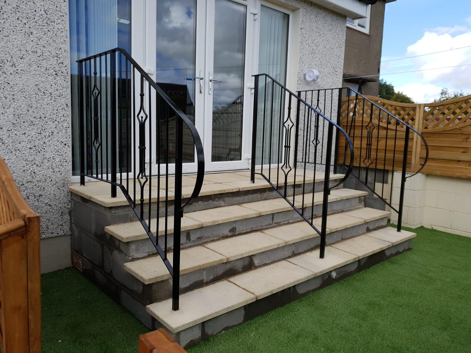 Pretty metal handrails by Dain Art Iron, Ayrshire, Scotland.