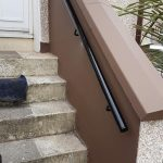 Metal handrail fitted in Saltcoats by Dain Art Iron
