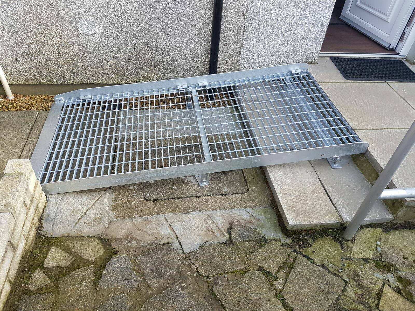 Our metal access ramps can be galvanised to provide a long lasting, rust free, no maintenance solution to accessing properties in the Ayrshire area.